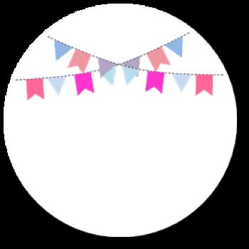 12 Sticker Meilenstein Mädchen Rosa Baby Blanko